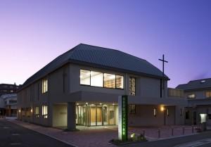 教会堂夜景